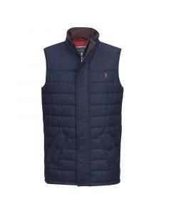 Jack Murphy Mens Norman Quilted Gilet Heritage Navy