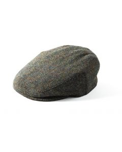 Failsworth Stornoway Harris Tweed Flat Cap Green Mix