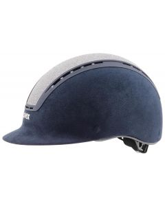Uvex Suxxeed Glamour Riding Helmet Navy / Silver + FREE HAT BAG!