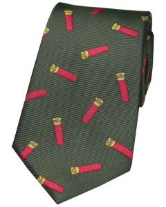 Sax Mens Soprano Red Cartridges Country Silk Tie Green