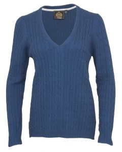 Toggi Ladies Whitfield Classic V Neck Jumper Peacock Blue
