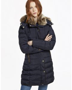 Joules Ladies Caldecott Padded Coat Marine Navy