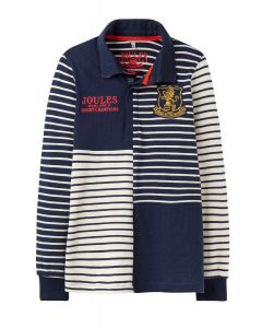 Joules Jnr Try Rugby Shirt French Navy