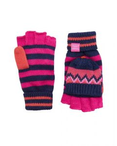 Joules Junior Faith Glittens Converter Gloves Fairisle