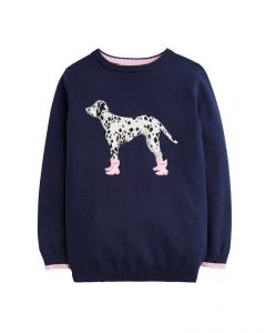 Joules Junior Meryl Artwork  Jumper Dalmatian
