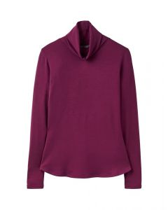 Joules Ladies Rachelle Roll Neck Jersey Top Burgundy
