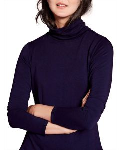 Joules Ladies Rachelle Roll Neck Jersey Top French Navy