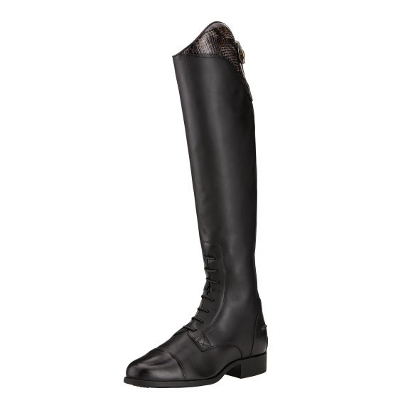 Ariat Ladies Heritage Ellipse Snake Print Riding Boots Black